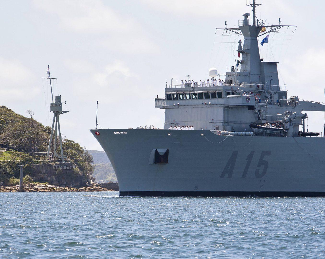 SPS Cantabria arrives at Fleet Base East